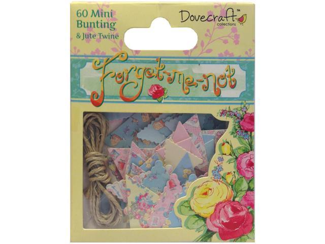 Forget-Me-Not Mini Bunting W/Jute String-