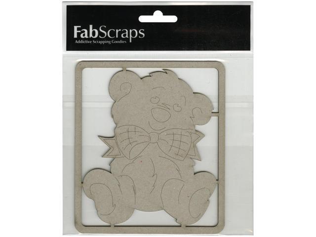 Die-Cut Gray Chipboard Embellishments-Teddy Bear, 5