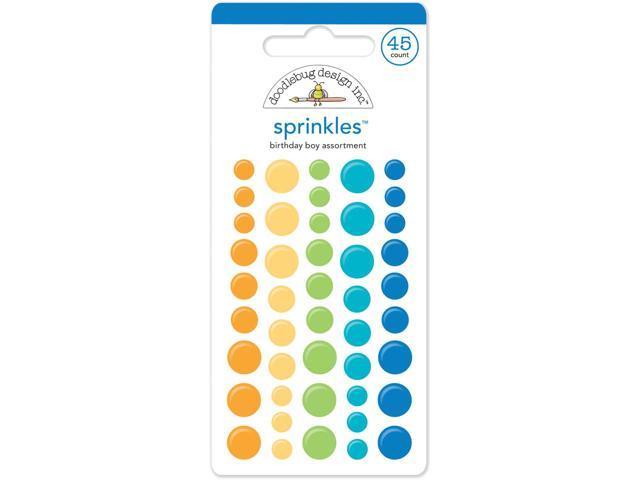 Hip Hip Hooray Sprinkles Glossy Enamel Scrapbooking Stickers 45/Pkg-