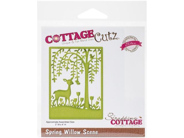 Cottagecutz Elites Die-Spring Willow Scene 3