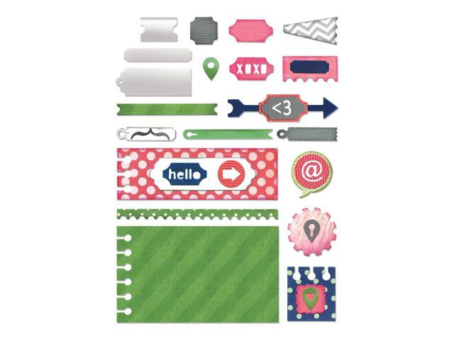 Sizzix Thinlits Dies 20/Pkg-Notebook Base/Layering Shapes