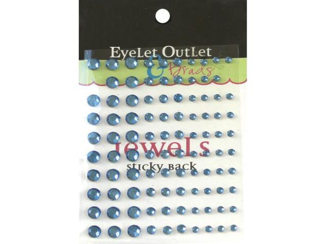 Bling Self-Adhesive Jewels Multi-Size 100/Pkg-Blue