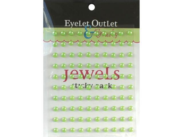 Bling Self-Adhesive Pearls 5Mm 100/Pkg-Green