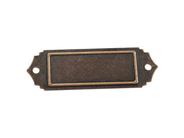 Brass Embellishments 10/Pkg-Scalloped Name Plate