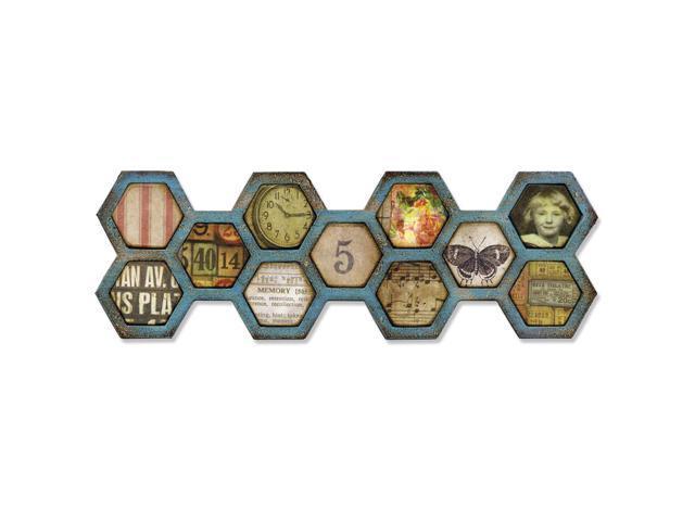 Sizzix Frameworks Border Die By Tim Holtz-Honeycomb