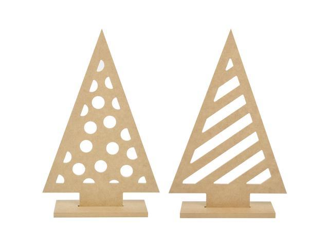 Beyond The Page Mdf Funky Trees 2/Pkg-13