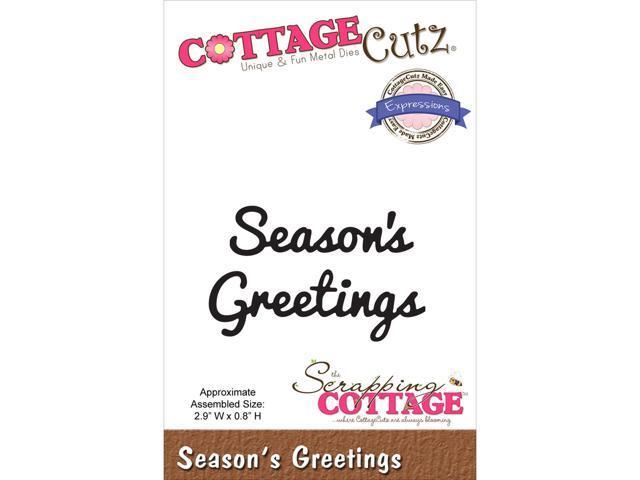 Cottagecutz Expressions Die-Season's Greetings