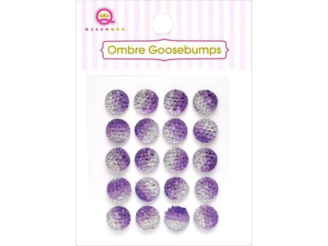 Ombre Goosebumps Self-Adhesive Embellishments 20/Pkg-Purple