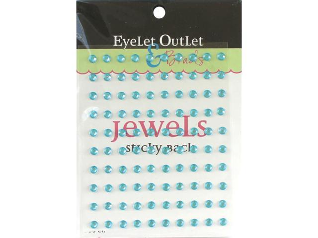 Bling Self-Adhesive Jewels 5Mm 100/Pkg-Turquoise