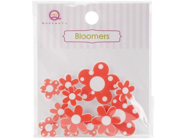 Bloomers Resin Flowers Assorted Sizes 12/Pkg-Orange