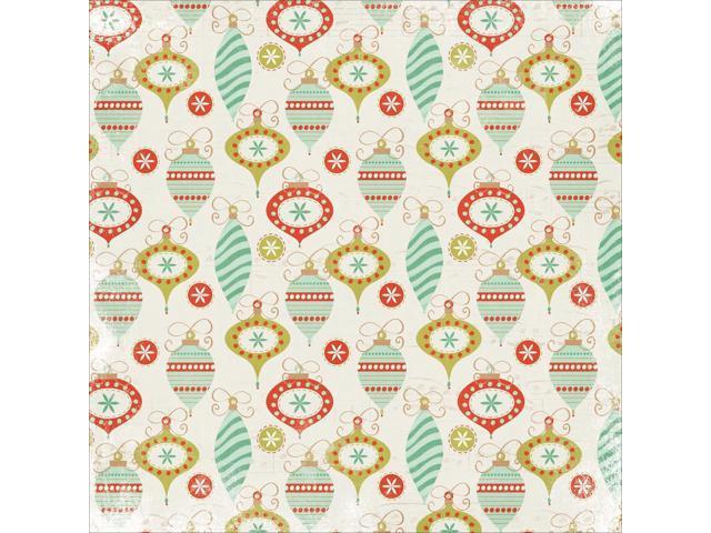 Mistletoe Spot Varnish Cardstock 12