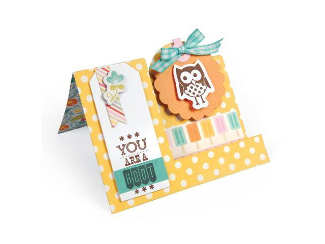 Sizzix Framelits Dies 9/Pkg W/Clear Stamps-Happy Tags