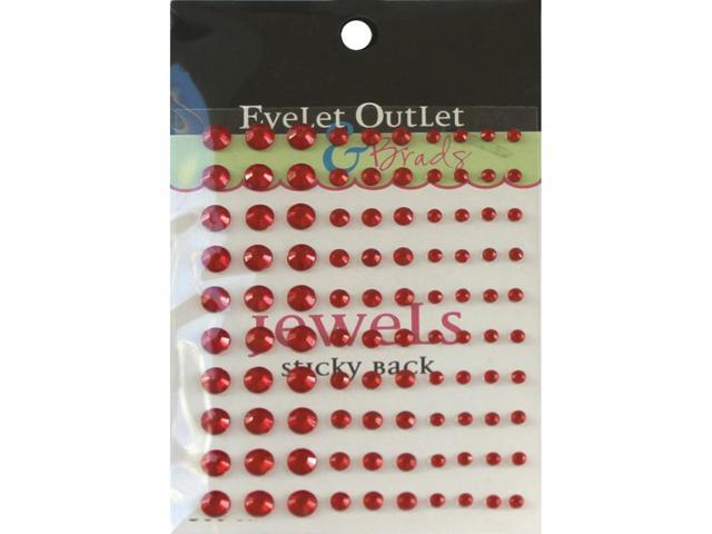 Bling Self-Adhesive Jewels Multi-Size 100/Pkg-Red