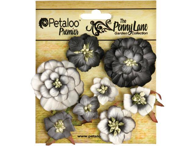 Penny Lane Mixed Blossoms 8/Pkg-Black