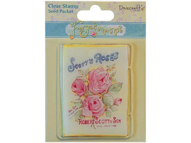 Forget-Me-Not Clear Stamp-Seed Packet