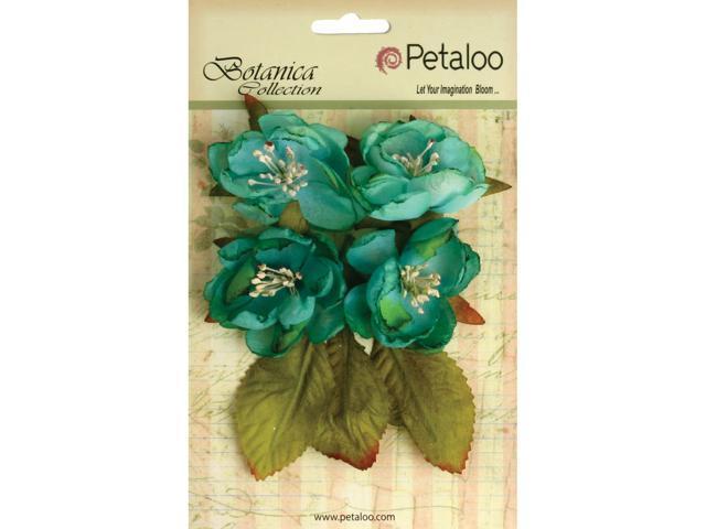 Botanica Blooms 4/Pkg-Teal