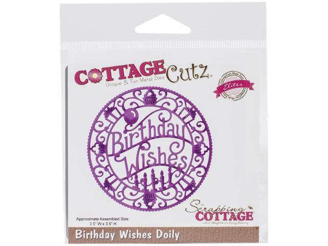 Cottagecutz Elites Die-Birthday Wishes Doily