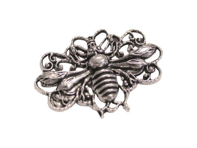 Silver Embellishments 15/Pkg-Honey Bees