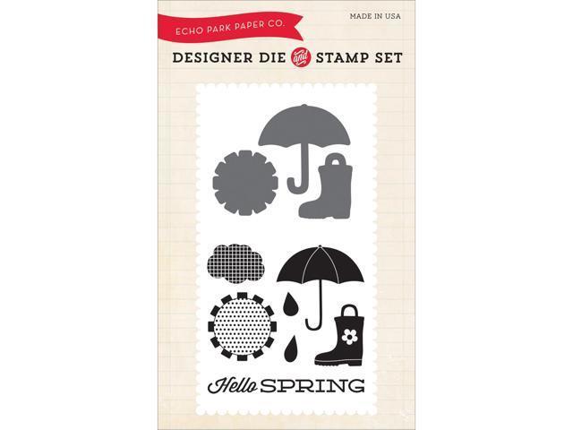 Echo Park Die & Stamp Combo Set-Hello Spring