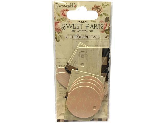 Sweet Paris Mini Tags 16/Pkg-