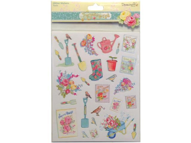 Forget-Me-Not A4 Glitter Stickers-Tools