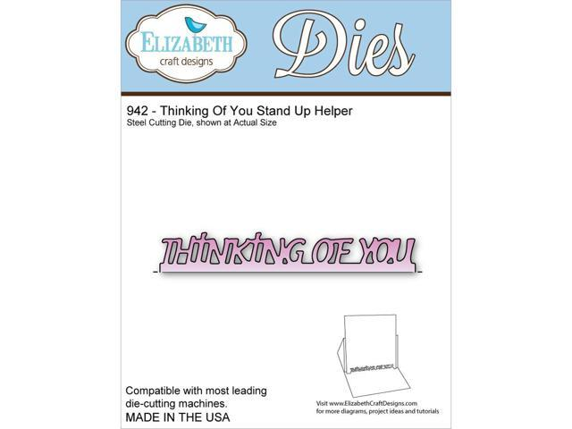 Elizabeth Craft Metal Die-Thinking Of You Stand Up Helper