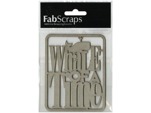 Die-Cut Gray Chipboard Word-Whale Of A Time 4