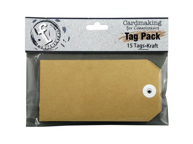 Fundamentals Tags 15/Pkg-Large Rectangle/Kraft