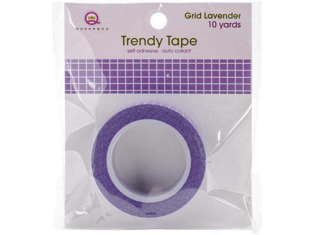 Queen & Co. Trendy Tape-Grid Lavender