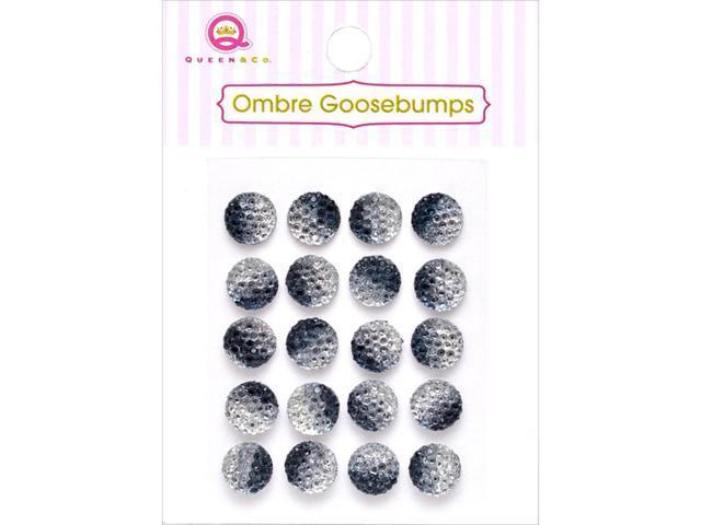 Ombre Goosebumps Self-Adhesive Embellishments 20/Pkg-Black