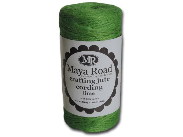 Crafting Jute Cording 100Yd-Lime Green