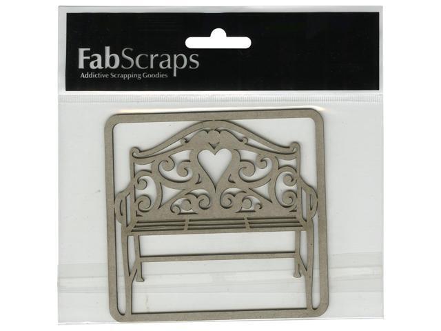 Die-Cut Gray Chipboard Embellishments-Filigree Bench, 3