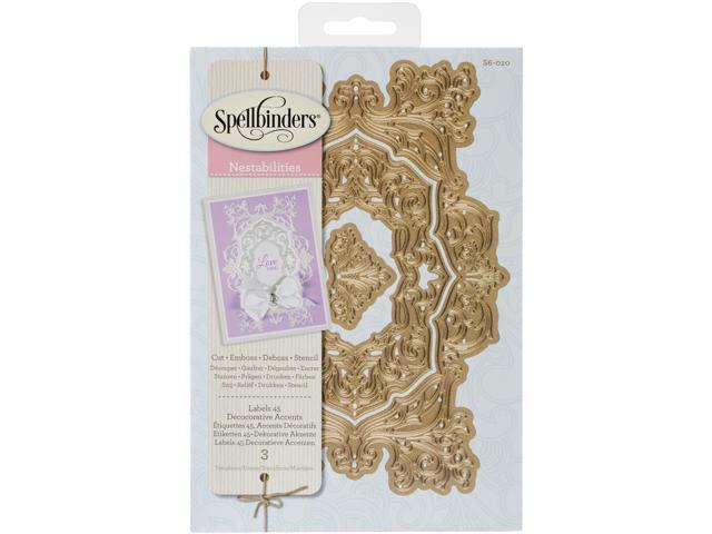 Spellbinders Nestabilities Decorative Elements Dies-Labels 45