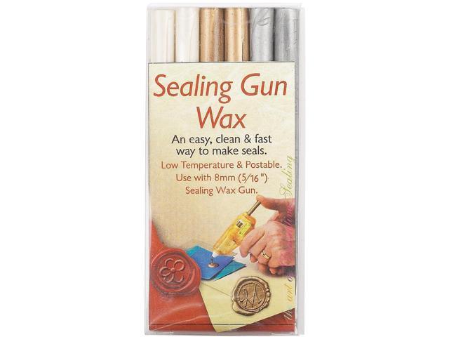 Sealing Gun Wax Stickers 6/Pkg-Pearl/Gold/Silver