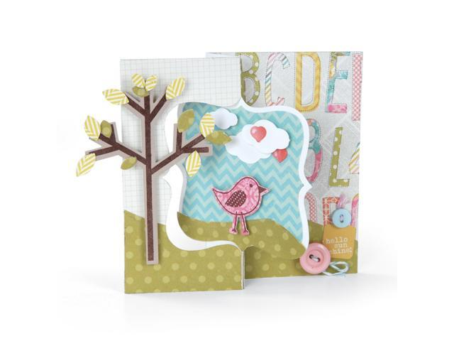 Sizzix Movers & Shapers Large Base Die-Card; Fancy Flip-Its