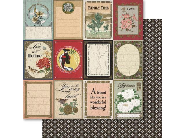 Oriental Chic Double-Sided Cardstock 12