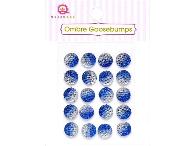 Ombre Goosebumps Self-Adhesive Embellishments 20/Pkg-Blue