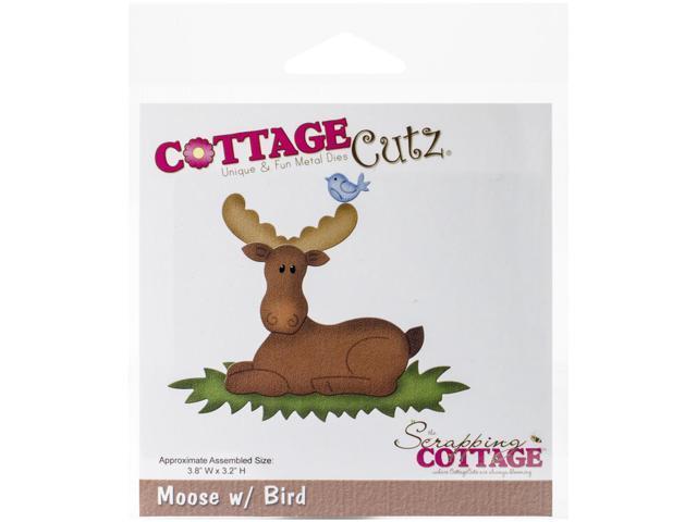 Cottagecutz Die-In The Woods Moose W/Bird
