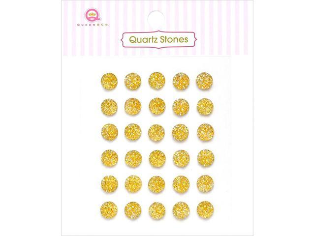 Quartz Stones Self-Adhesive Embellishments 30/Pkg-Yellow