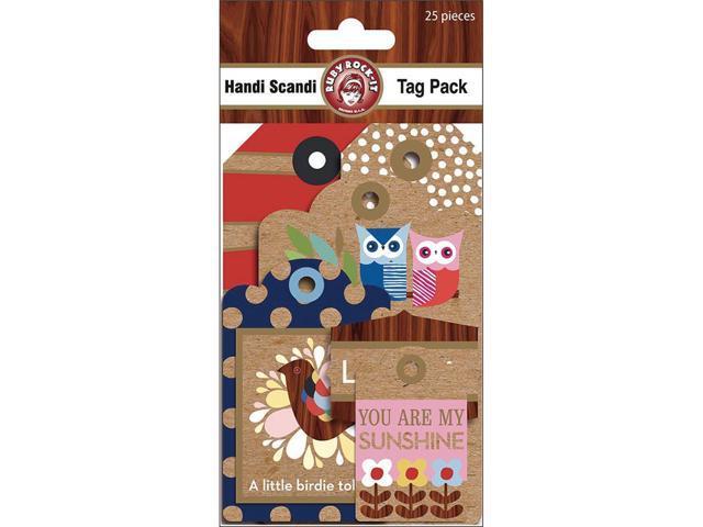Handi Scandi Tags 25/Pkg-W/Glitter Accents