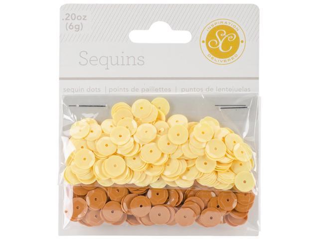 Essentials Sequins 8Mm 6G (.2Oz)-Yellow & Orange
