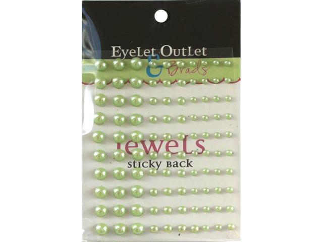 Bling Self-Adhesive Pearls Multi-Size 100/Pkg-Green