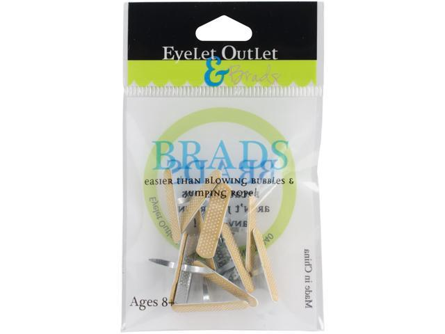 Eyelet Outlet Shape Brads 12/Pkg-Bandaid