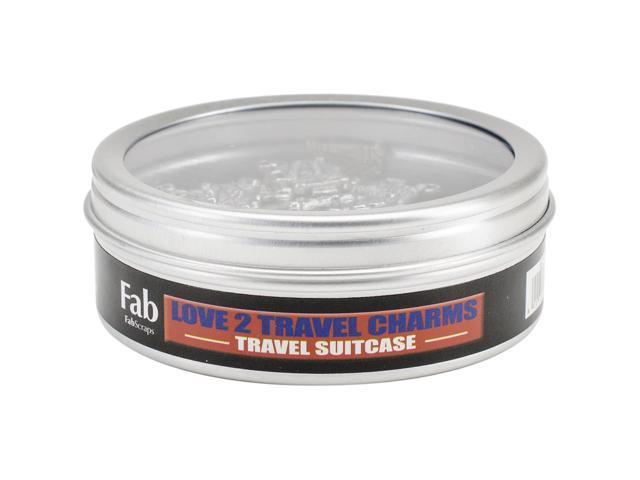 Silver Embellishments 20/Pkg-Travel Suitcase