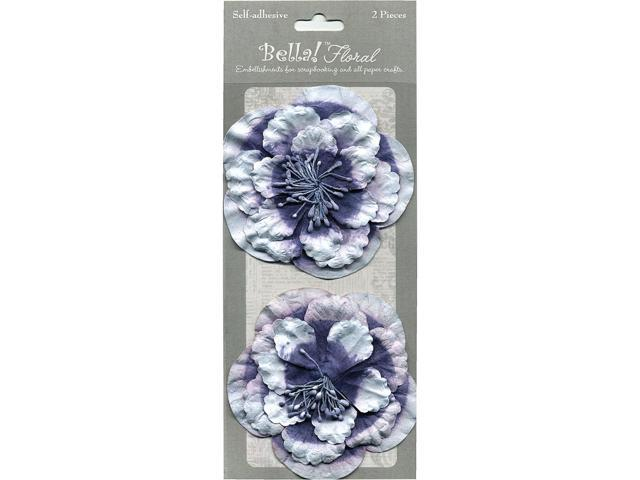 Bella! Paper Florals 2/Pkg-Blue