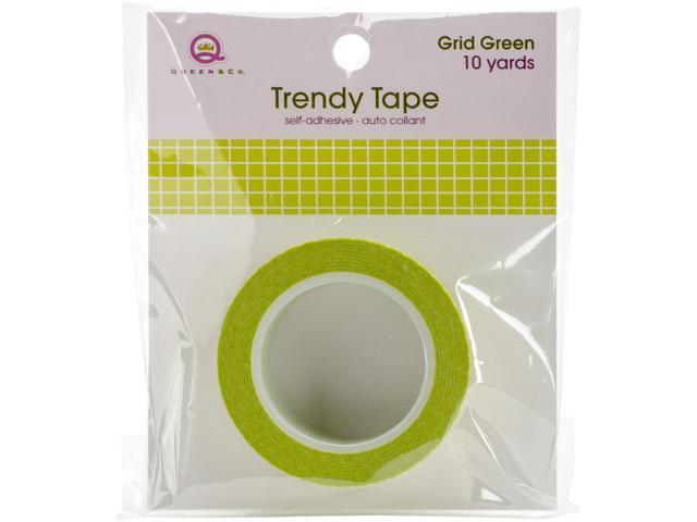 Queen & Co. Trendy Tape-Grid Green