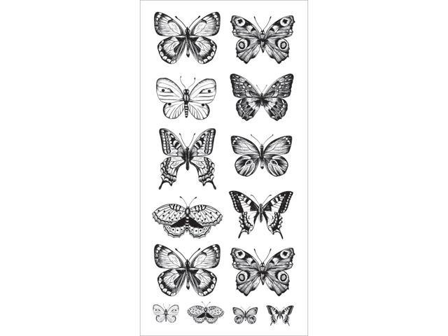 Clear Stickers-Butterflies