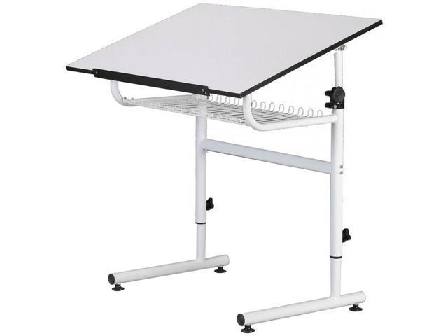 Martin Universal Design White Gallery Drafting Art-Hobby / Creative Table With Storage Shelf