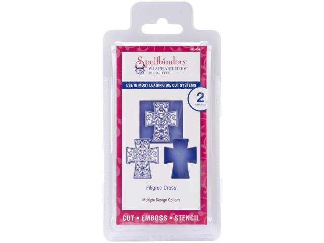 Spellbinders Shapeabilities Die D-Lites-Filigree Cross, 4