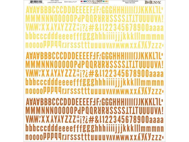 Bobunny Double-Dot Alpha Stickers 12
